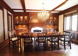 Chippendale Dining Room Table Mahogany Chippendale Chairs For Elegant Formal Dining Rooms