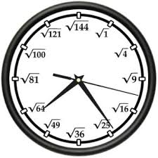 Pop Quiz Wall Clock Math Graph Paper School Time Is Passing