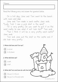 Kindergarten Reading Comprehension Worksheets Free Worksheets for ...