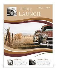 Retro Car Flyer Template & Design Id 0000007137 - Smiletemplates.com