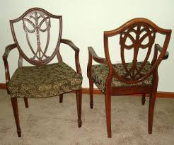Dining Chairs Upholstered Shield Back Chairs Dining Room Shield