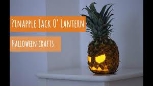 Halloween Craft Make A Pinapple Jack O Lantern