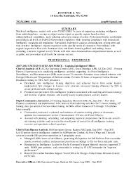 Military Executive Officer Sample Resume Best Intelligence Specialist Resume