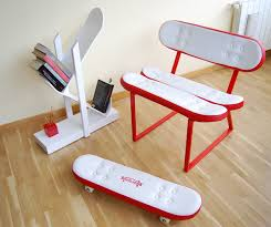 Cool Furniture Ideas Simple Cool Furniture Ideas With Skateboard Style From  Skate Home