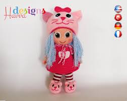 Amigurumi Doll Patterns Delectable Cat Hat Doll Amigurumi Crochet Pattern From Havva Designs