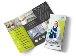 Cleaning Brochure Green House Cleaning Tri Fold Brochure Template