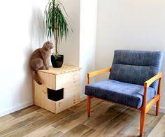 corner cat litter box furniture. Corner Litter Box Cover, Pet House, Cat Cabinet, Furniture Made Of Spruce Wood B
