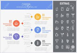 Year Timeline Template Drink Infographic Timeline Template Elements And Icons Infograph