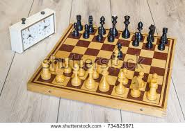 Old Wooden Board Games Chess Table Game Set Black White Stock Vector 100 Shutterstock 93
