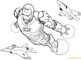 Print or download jam packed action images of iron man for your kids so that they can enjoy the fun of learning with abundance of opportunities to fill different shades and color in the coloring sheets. Iron Man Flying With Plane Coloring Pages Cartoons Coloring Pages Free Printable Coloring Pages Online