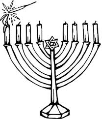 Small Picture Hanukkah candles coloring page