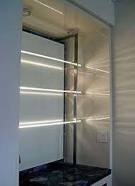 glass shelf lighting. Glass Shelves With LEDs Lighting The Edges Shelf C