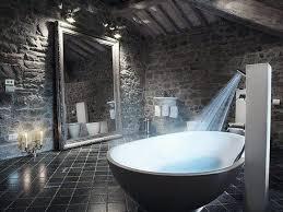 image unique bathroom. Bathroom With Grey Stone Walls And Floor Image Unique U