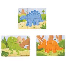 dinosaur 6 piece puzzles 3 puzzles