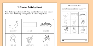 How is this y phonics worksheet helpful? Y Phonics Worksheet Letter Activity Classroom Resource