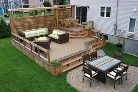 Small Picture Patio Decks Ideas Ground Level Deck Like The Idea Of The