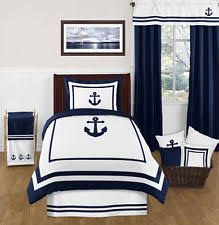 hotel navy sailor anchors nautical theme twin children boy bedding comforter set bedding sets twin kids