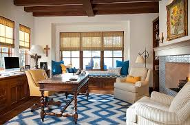 fabulous home office interior. Splashes Of Yellow And Blue In The Elegant Home Office [Design: Astleford Interiors] Fabulous Interior O