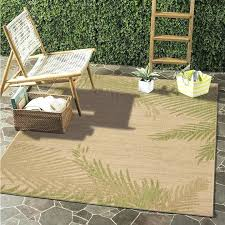 outdoor mat round rugs tropical patio carpet rug octagon 5x7
