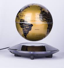 6 inch rotation perpetual motion machine gold globe maglev office desk toys gift