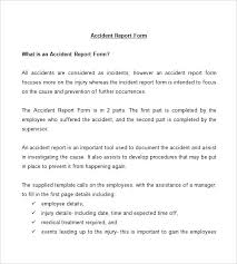 Incident Report Sample Format Incident Accident Report Sample Format
