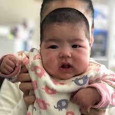 赤ちゃん筆のマカナちゃん4ヶ月 ヘアサロンタカハシ高槻市の理容室