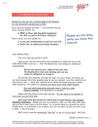 a three letter package copy these prospecting techniques deluxe fi page 1 of a 4 page aaa membership prospecting
