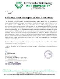 Letter Of Recommendation For Recommendation Letter _mrutyunjay Suar Sir_kiit University