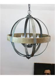 awesome wood and metal chandelier round ball shaped metal and wood chandelier w pendant light in
