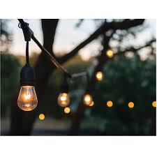 Outdoor strand lighting Vintage Style Outdoor Strand Lighting 24 Ft 12 Bulb Outdoor String Lights Bradshomefurnishings Outdoor Strand Lighting 24 Ft 12 Bulb Outdoor String Lights