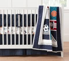liam sports crib bedding set pottery