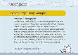 expository essay sample on immigration and persuasive essay sample on  4 essaysharkexpository essay sample problems of immigration