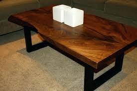 natural edge coffee table large size of walnut slab live round wood legs na
