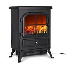 Image is loading 1500W-Electric-Fireplace-Freestanding-Heat-Log-Flame-Stove-
