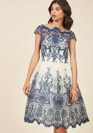 cute & vintage inspired wedding guest dresses modcloth Wedding Guest Dresses Boho chi chi london exquisite elegance lace dress in navy wedding guest dresses boutique
