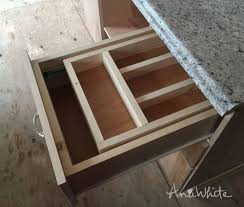Kitchen Drawer Organization Ana White Kitchen Drawer Organizer Adding A Double Drawer To
