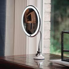 Flexible Lighted Makeup Mirror Iolanthe Flexible Led Lighted Makeup Mirror