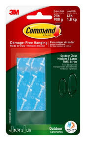 command 17615clraw es assorted outdoor clear refill strips