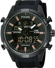 "analogue digital combination watches dual time watch shop comâ""¢ mens pulsar sport alarm chronograph watch pw6007x1"