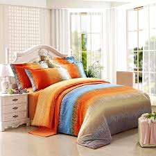 orange and gray bedding sets funky bright orange grey and aqua blue ticking stripe print full orange and gray bedding sets