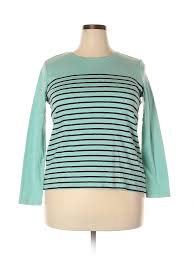 Talbots Plus Size Chart Details About Talbots Women Green Long Sleeve T Shirt 2x Plus