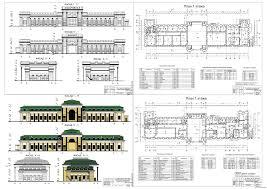 Курсовые и дипломные проекты общественное здание скачать dwg  Дипломный проект Реконструкция железнодорожного вокзала Хабаровск ii