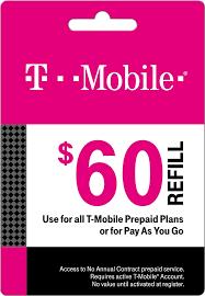 Tmobile Custumer Service T Mobile 60 Prepaid Refill Card