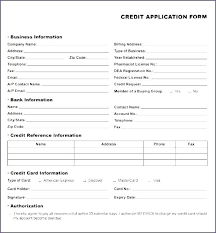Business Account Application Company Application Form Template