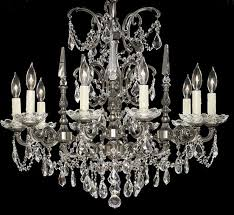 venetian collection 10 light large brass crystal chandelier