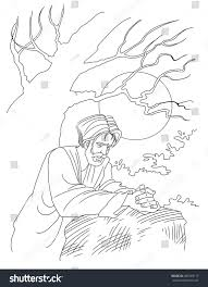 Jesus Praying Garden Gethsemane Stock Illustration 485929177 ...