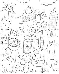 free able summer fun coloring