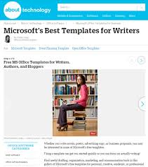Microsoft Office Tamplates 8 Free Microsoft Office Templates For Writers