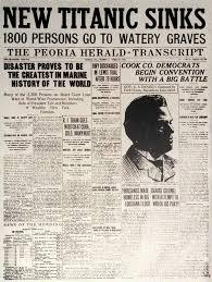 A Newspaper Article Titanic Newspaper Article The Peoria Herald Transcript
