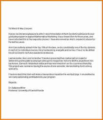 Letter Of Recommendation For Graduate School Sample Shared By